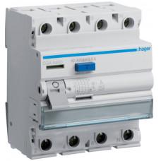 Устройство защитного отключения УЗО 4x40 A, 500 mA, A, 4м Hager CGA440D