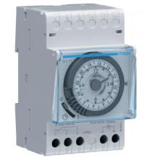 Таймер аналоговий добовий 16А, 1 перем.контакт, запас ходу 200 год., Hager EH111