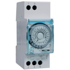 Таймер аналоговий добовий 110-230В/16А 1 перем.контакт, без резерва ходу, 2м Hager EH209