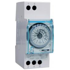 Таймер аналоговий добовий 110-230В/16А 1 перем.контакт, без резерва ходу, 2м Hager EH210