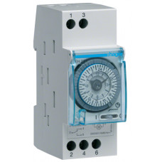 Таймер аналоговий добовий 230В/16А 1 перем.контакт, запас ходу 200 год., 2 м Hager EH211