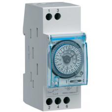 Таймер аналоговий тижневий 230В/16А 1 перем.контакт, запас ходу 200 год., 2 м Hager EH271