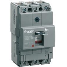 Автоматический выключатель x160, In=16А, 3п, 18kA, Тфикс./Мфикс. Hager HDA016L