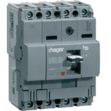 Автоматический выключатель x160, In=16А, 4п, 18kA, Тфикс./Мфикс. Hager HDA017L