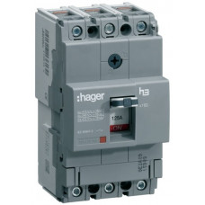 Автоматический выключатель x160, In=20А, 3п, 18kA, Тфикс./Мфикс. Hager HDA020L