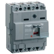 Автоматический выключатель x160, In=20А, 4п, 18kA, Тфикс./Мфикс. Hager HDA021L