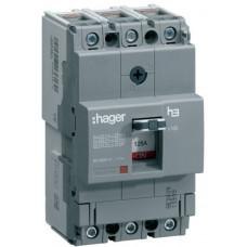 Автоматичний вимикач x160, In=25А, 3п, 18kA, Тфікс./Мфікс. Hager HDA025L