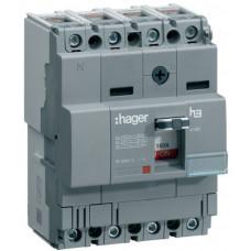 Автоматический выключатель x160, In=25А, 4п, 18kA, Тфикс./Мфикс. Hager HDA026L