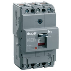 Автоматический выключатель x160, In=32А, 3п, 18kA, Тфикс./Мфикс. Hager HDA032L
