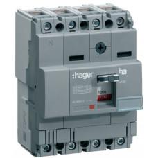 Автоматический выключатель x160, In=32А, 4п, 18kA, Тфикс./Мфикс. Hager HDA033L