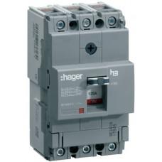 Автоматичний вимикач x160, In=40А, 3п, 18kA, Тфікс./Мфікс. Hager HDA040L