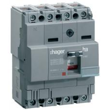 Автоматический выключатель x160, In=40А, 4п, 18kA, Тфикс./Мфикс. Hager HDA041L