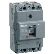 Автоматичний вимикач x160, In=63А, 3п, 18kA, Тфікс./Мфікс. Hager HDA063L