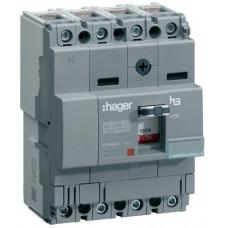 Автоматичний вимикач x160, In=63А, 4п, 18kA, Тфікс./Мфікс. Hager HDA064L