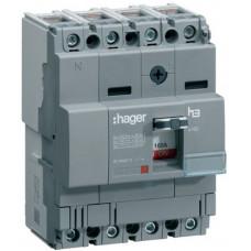 Автоматичний вимикач x160, In=80А, 4п, 18kA, Тфікс./Мфікс. Hager HDA081L