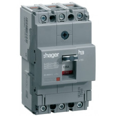 Автоматичний вимикач x160, In=100А, 3п, 18kA, Тфікс./Мфікс. Hager HDA100L
