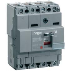 Автоматичний вимикач x160, In=100А, 4п, 18kA, Тфікс./Мфікс. Hager HDA101L