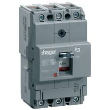 Автоматичний вимикач x160, In=125А, 3п, 18kA, Тфікс./Мфікс. Hager HDA125L