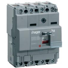 Автоматичний вимикач x160, In=125А, 4п, 18kA, Тфікс./Мфікс. Hager HDA126L