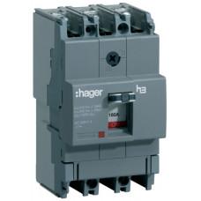Автоматичний вимикач x160, In=160А, 3п, 18kA, Тфікс./Мфікс. Hager HDA160L