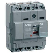 Автоматичний вимикач x160, In=160А, 4п, 18kA, Тфікс./Мфікс. Hager HDA161L