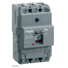 Автоматичний вимикач x160, In=25А, 3п, 25kA, Трег./Мфікс. Hager HHA025H