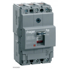 Автоматический выключатель x160, In=40А, 3п, 25kA, Трег./Мфикс. Hager HHA040H