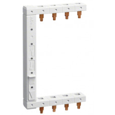 Шина фазна вертикальна гребінчата 3P+N, 10мм2, 2-рядна, ліва Hager KCF663L