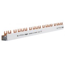 Шина з'єднувальна вилочна, 4-полюсна на 57 модулів, з ізоляцією, 10мм2 Hager KDN463B