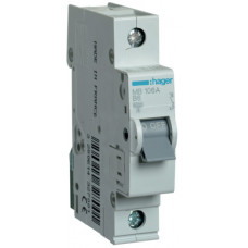 Автоматический выключатель In=6 А, 1п, В, 6 kA, 1м Hager MB106A