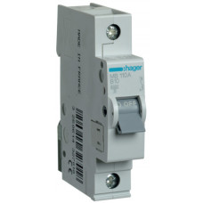 Автоматический выключатель In=10 А, 1п, В, 6 kA, 1м Hager MB110A