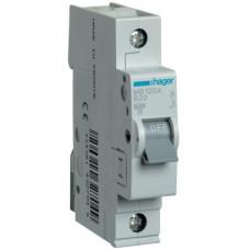 Автоматический выключатель In=20 А, 1п, В, 6 kA, 1м Hager MB120A