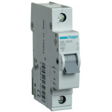 Автоматический выключатель In=25 А, 1п, В, 6 kA, 1м Hager MB125A