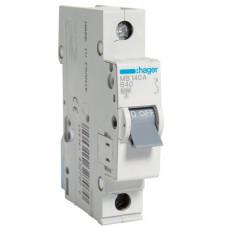 Автоматический выключатель In=40 А, 1п, В, 6 kA, 1м Hager MB140A