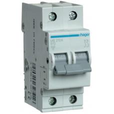 Автоматический выключатель In=10 А, 2п, В, 6 kA, 2м Hager MB210A