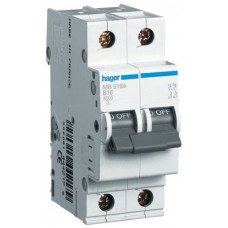 Автоматический выключатель In=10 А, 1+N, В, 6 kA, 2м Hager MB510A