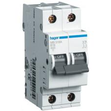 Автоматический выключатель In=16А, 1+N, В, 6 kA, 2м Hager MB516A