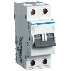 Автоматический выключатель In=20 А, 1+N, В, 6 kA, 2м Hager MB520A