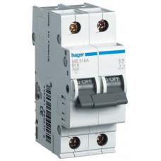 Автоматический выключатель In=25 А, 1+N, В, 6 kA, 2м Hager MB525A