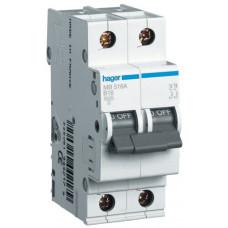 Автоматический выключатель In=32 А, 1+N, В, 6 kA, 2м Hager MB532A