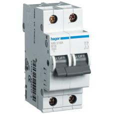 Автоматический выключатель In=63 А, 1+N, В, 6 kA, 2м Hager MB563A