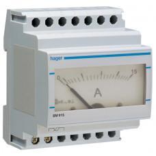 Амперметр аналоговий, прямого включення, 0-15А, 4м Hager SM015