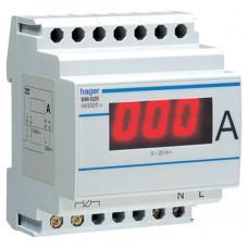 Амперметр цифровий, прямого включення, 0-20 А, 4м Hager SM020
