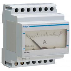 Амперметр аналоговий, непрямого включення, 0-50А, 4м Hager SM050