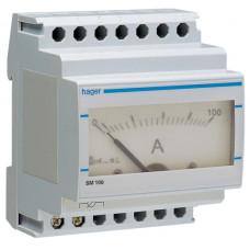 Амперметр аналоговий, непрямого включення, 0-100А, 4м Hager SM100