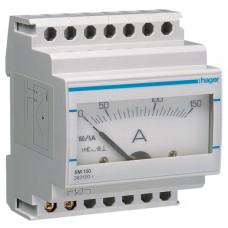 Амперметр аналоговий, непрямого включення, 0-150А, 4м Hager SM150
