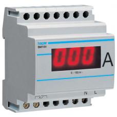 Амперметр цифровий, непрямого включення, 0-150А, 4м Hager SM151