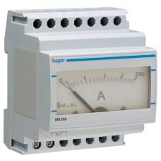 Амперметр аналоговий, непрямого включення, 0-250А, 4м Hager SM250