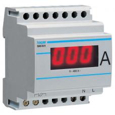 Амперметр цифровий, непрямого включення, 0-400А, 4м Hager SM401