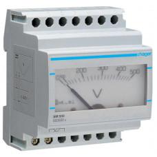 Вольтметр аналоговий 0-500В, 4м Hager SM500